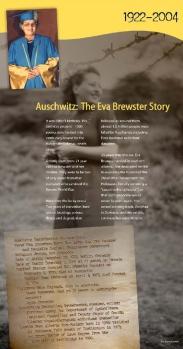 Galt Museum Auschwitz: The Eva Brewster Story exhibit panels