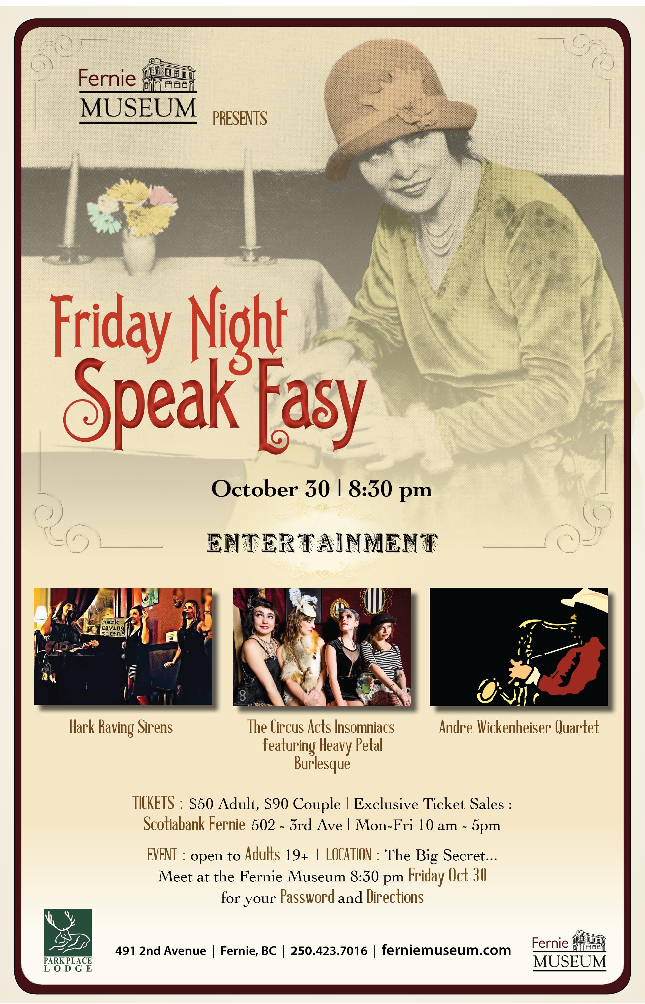 speak easy poster