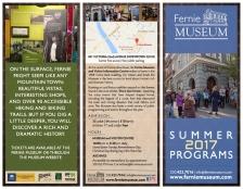 Fernie Museum: Programs brochure