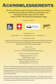 Fernie at War: Recognition Panel
