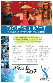 Volunteer Lethbridge D.O.E.S. Light pamphlet front