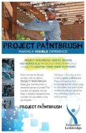 Volunteer Lethbridge Project Paintbrush pamphlet front