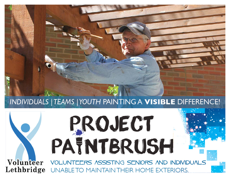 Volunteer Lethbridge Project Paintbrush postcard front