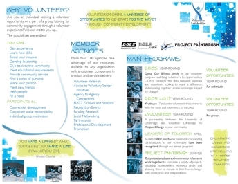 Volunteer Lethbridge brochure centre