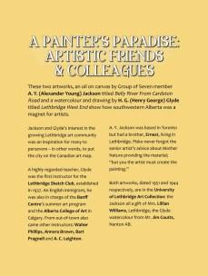 Galt Museum A Painter's Paradise Exhibit Panel